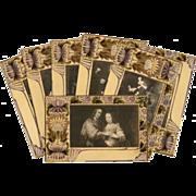 7 Art Nouveau postcards of Rembrandt and Hals Paintings Unused