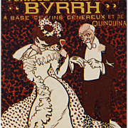 French Art Nouveau 1906 Byrrh Postcard with Edwardian Couple