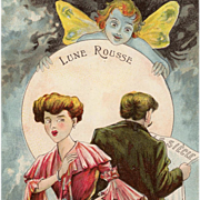 French Lune Rousse Edwardian Married Couple's Relationship with Cupid as Butterfly Fairy
