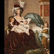 Lebrun-Vigée Portrait of Marie-Antoinette with her Children Antique German Postcard