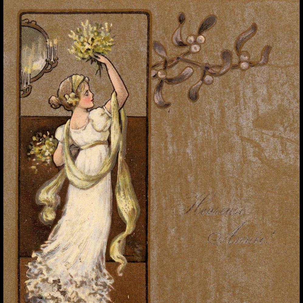 M.M. Vienne Artist Signed Ethel Parkinson Christmas Postcard