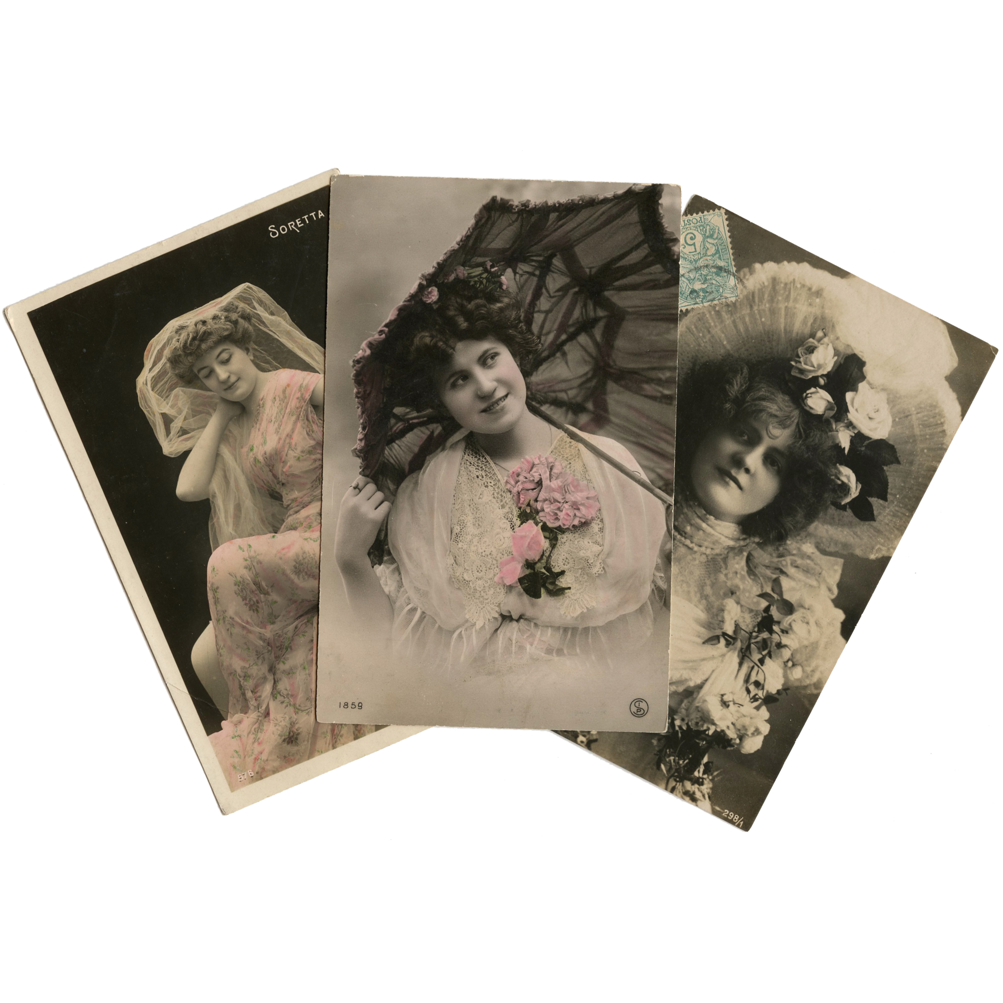 Lots of Lace and Tulle 3 European Real Photo Glamour Postcards
