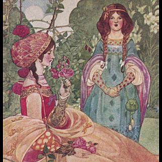 """Ethel Larcombe's """"The Sonnet"""" Rare Antique British Chromolithographic Postcard Unused"""