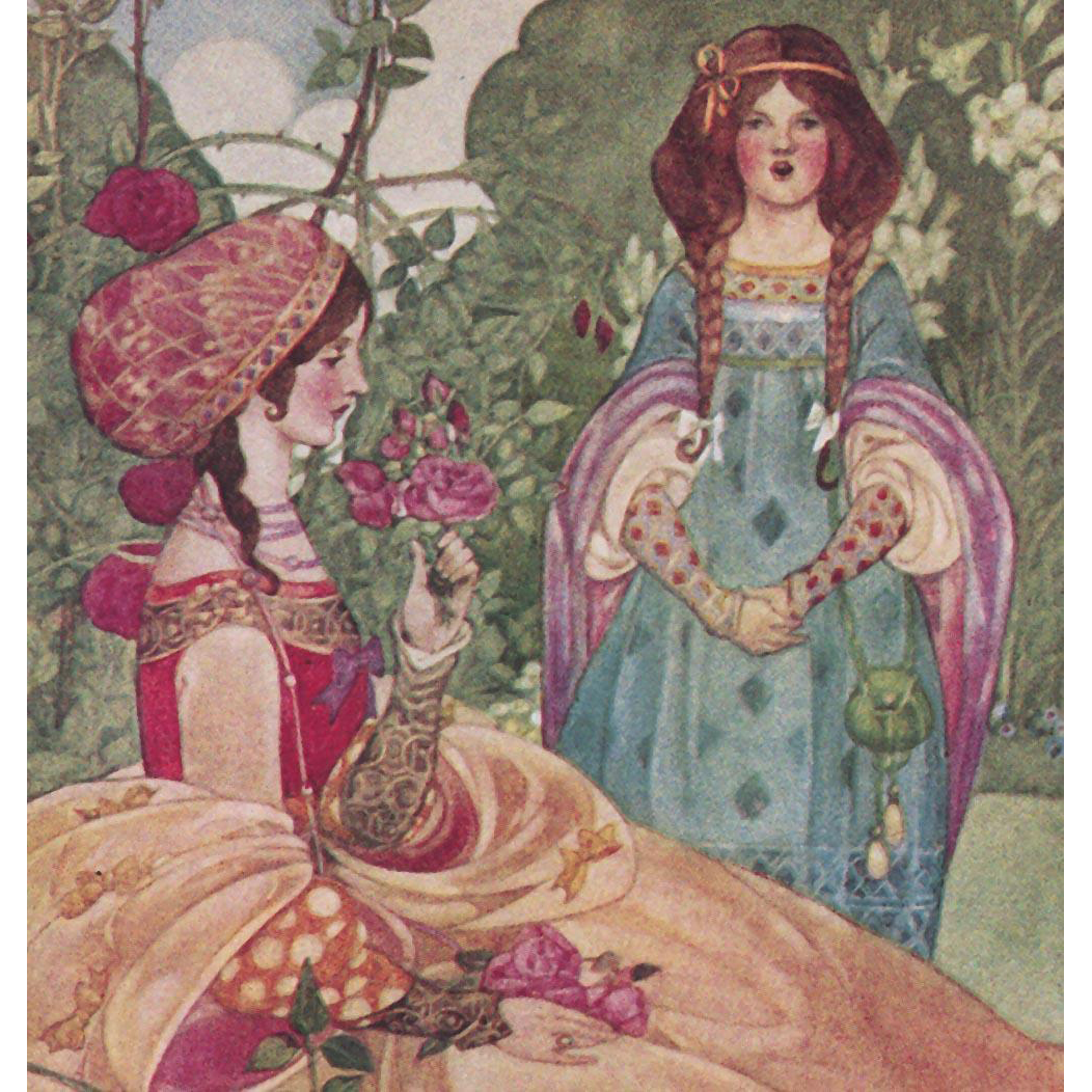 "Ethel Larcombe's ""The Sonnet"" Rare Antique British Chromolithographic Postcard Unused"