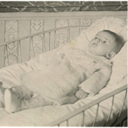 Post-mortem Real Photo French Postcard of Edwardian Toddler in Bassinet