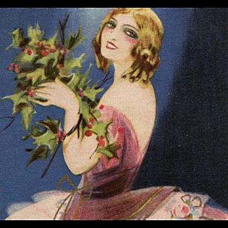 Rare Italian Artist Signed Chiostri 1928 French Joyeux Noel Christmas Postcard