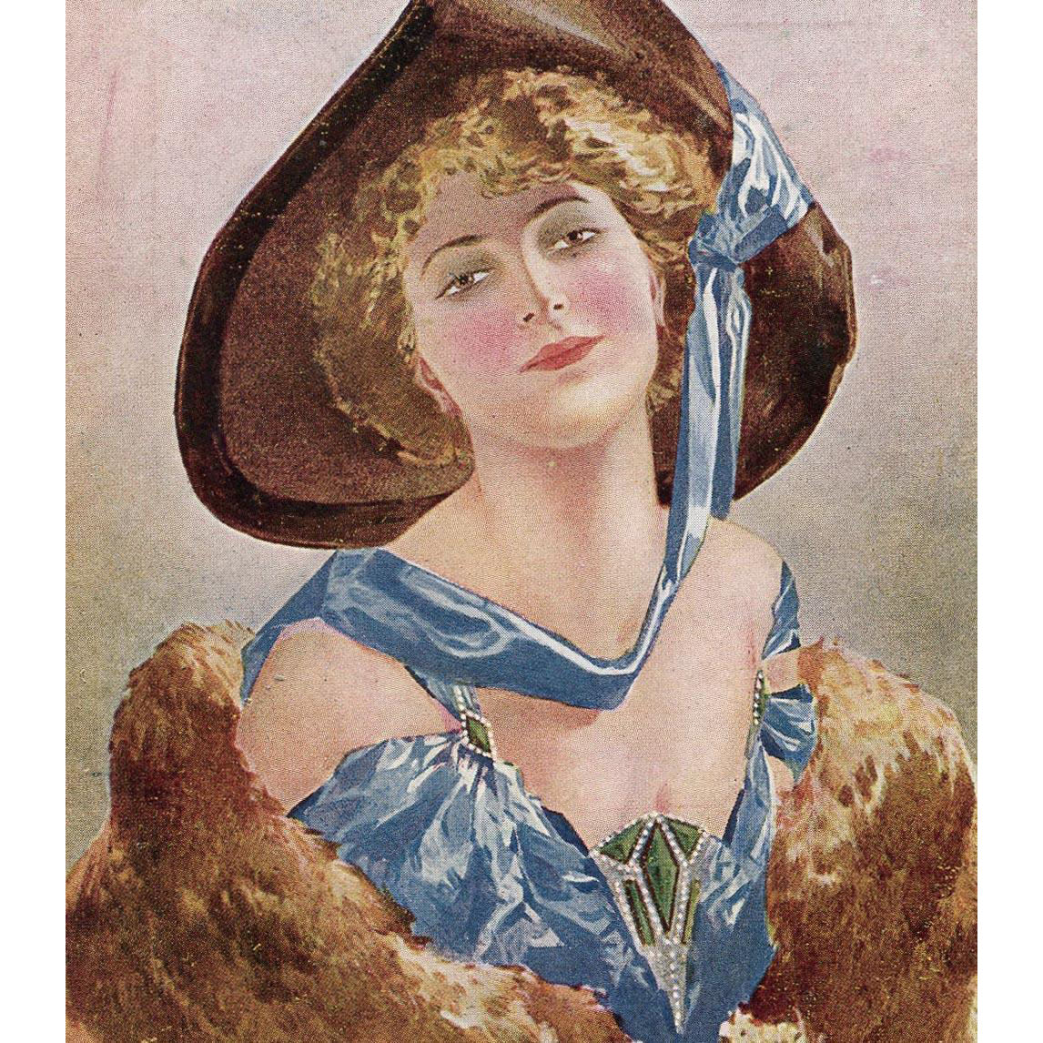 Glamour Lady Artist Signed Bottaro Unused Italian Postcard