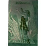 Wagner's Siegfried from the Ring Cycle Opera Postcard