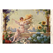 Paris Salon 1913 Louise Abbéma Flora Roman Goddess Unused French Postcard