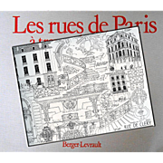Les Rues de Paris 1980 Book of Art Nouveau Sketches by French Architect Laprade