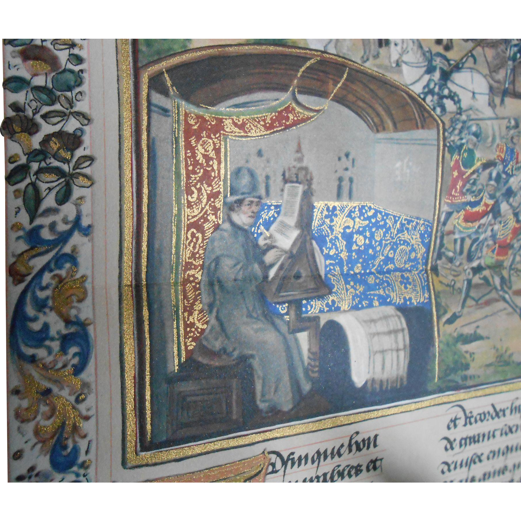 1922 General History of French Literature Book: Illuminated Manuscripts and Author Facsimiles