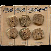 Vintage Haute Nouveauté Antler Buttons from France