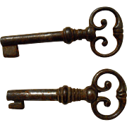 19th Century French Cabinet Key Hollow Barrel Shaft No. 1