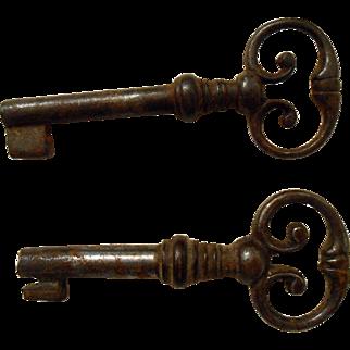 19th Century French Cabinet Key Hollow Barrel Shaft No. 1