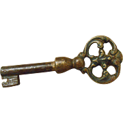19th Century French Furniture Key with Decorative Handle