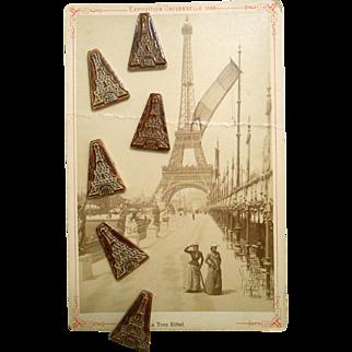 1989 Eiffel Tower Porcelain Féve Lucky Charm for Epiphany King's Cake