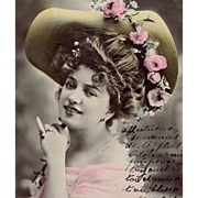 Reutlinger Real Photo Postcard of Belle Epoque Star Arlette Dorgère