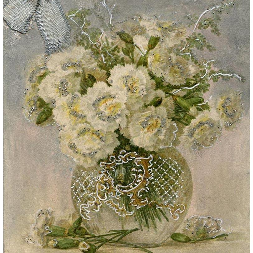 Customized Hand Painted Paul de Longpré Bouquet of Carnations 1904 French Postcard