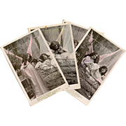 Guardian Angel with Violin French Postcard Series from Stebbing Photography of Paris