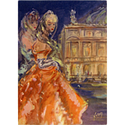 c1955 Paris Fashion Unused French Postcard Éditions d'Art by Yvon