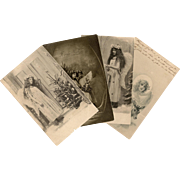 Christmas Angels Four Antique European Postcards from 1903 and 1916