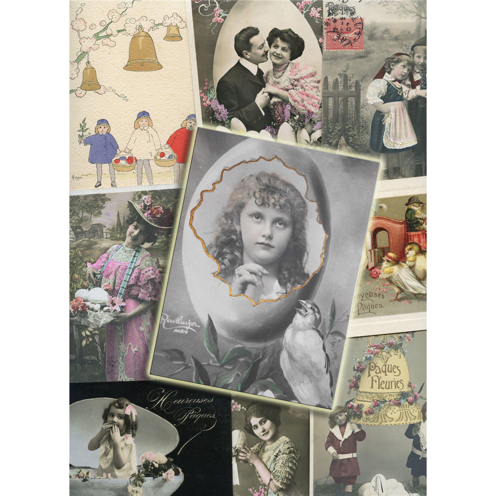 Lot of 27 French Easter Postcards: 1903 through 1922
