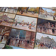 20 Georges Stein Postcards in Original Envelope Paris Impressionist Circa 1910