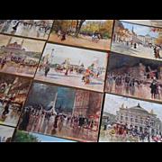20 Georges Stein Postcards in Original Envelope Paris Impressionist Circa 1910