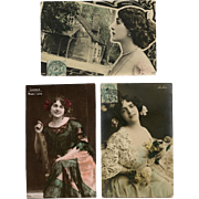 Three Belle Epoque Celebrities: Cavalieri, De Dio, Maria Labia
