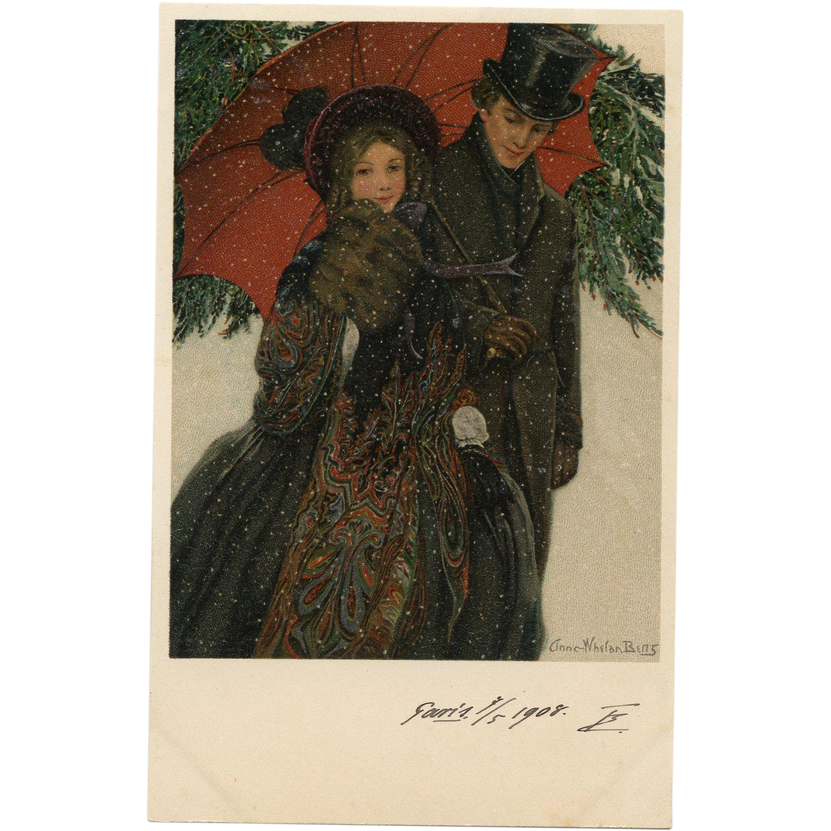 Golden Age of Illustration American Artist Anna Whelan Betts 1908 Vienne Postcard from Polish Count's Collection