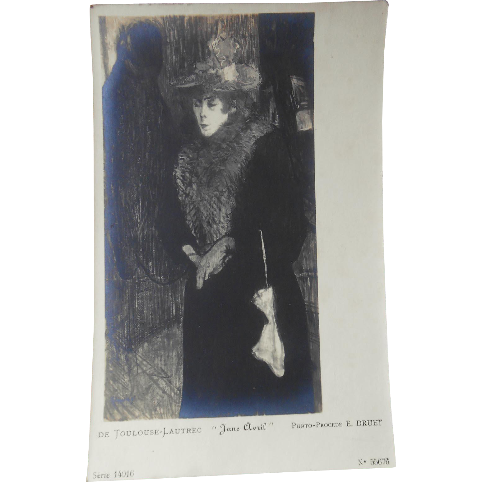 Toulouse-Lautrec's Jane Avril Reproduction by Renown Parisian Gallery Owner and Photographer Eugène Druet