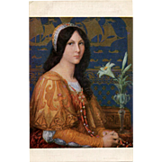 Elisabeth Sonrel Salon de Paris 1912 Daughter of the Doge Unused Antique French Postcard