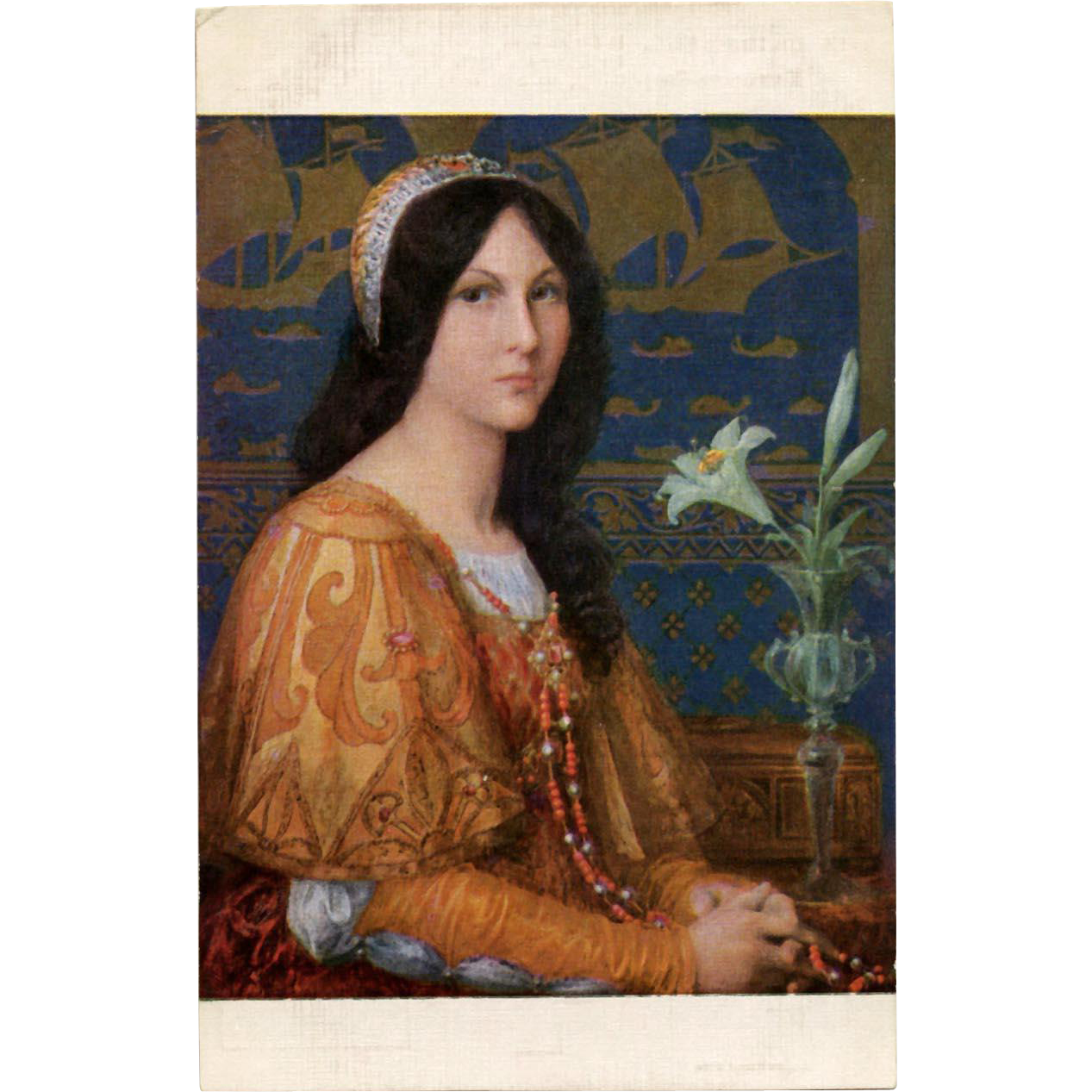 Elisabeth Sonrel Salon de Paris 1912 Daughter of the Doge Unused Antique French Postcard