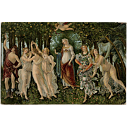 Botticelli Masterpiece Chromolithograph Postcard by Stengel Unused