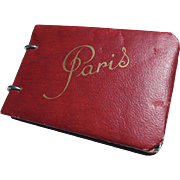 Vintage Red Petite Paris Photo Souvenir Book