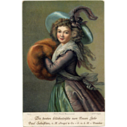 Elisabeth Vigee-Lebrun Portrait of Madame Molé-Reymond  Antique Chromolithographic Stengel Postcard