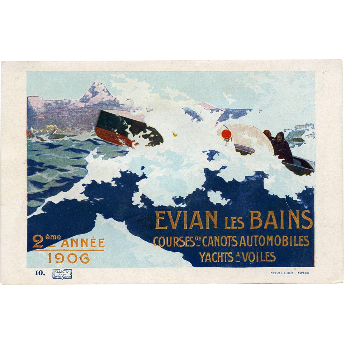 Evian Mineral Water Advertisement Order Form Postcard 1906