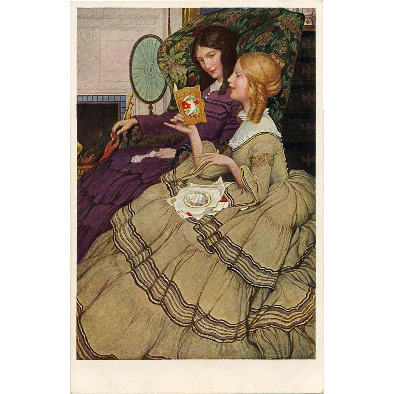 The Valentine by Anna Whalen Betts Unused Antique M.M. Vienne European Postcard