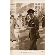1913 Portrait of Famous French Artist at Ascot by SEM Noyer of Paris Postcard
