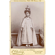 Marcel Disguised as an Angel Turn of the Century Cabinet Photo from Dijon, France