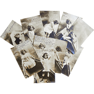 From Fancy to Fun: Real Photo Series Girl Undressing to Play in Water 10 Antique European Postcards