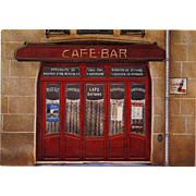 Cafe Antoine Coca Cola Advertisement Historical Restaurant in Art Nouveau Paris Building by André Renoux