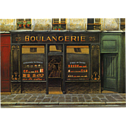 Boulangerie Paris Bakery Shop Front by French Painter André Renoux