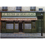 Bistro du Beaujolais by French Painter André Renoux Unused Vintage Postcard