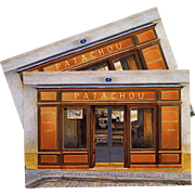 Patachou Restaurant Tea Salon in Montmarte by French Painter André Renoux Unused Vintage Postcard