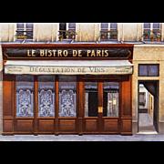 Le Bistro de Paris Storefront by French Painter André Renoux Unused Vintage Postcard