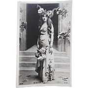 Pre-1904 Unused French Postcard Belle Epoque Actress de Buffon Real Photo by Reutlinger of Paris
