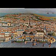 Ma Vie by Emile Blondel Art Reproduction Postcard Eiffel Tower Paris Unused Vintage
