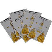 Vintage Modes de Paris Paper Doll Pompadour Golden Yellow Gown Postcard
