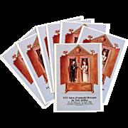 Peynet Lovers 1988 Antique Salon in Antibes Postcard Advertisement